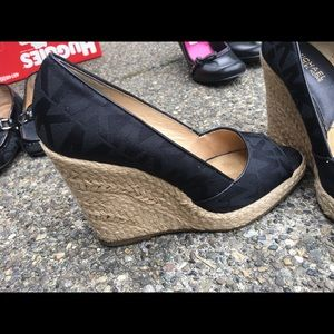 Michael Kors black wedge
